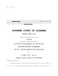 Ex parte Shirley Spencer and Christy Gee - Alabama Appellate Watch