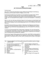 Liste der Technischen Baubestimmungen