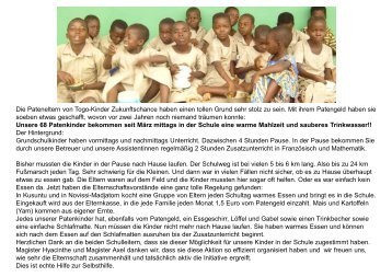 Folie 1 - Togo-Kinder Zukunftschance eV