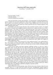 Omelia Inizio anno Pastorale - Diocesi di Alessandria