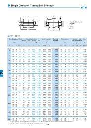 Single direction thrust ball bearings 511512513514 - NTN