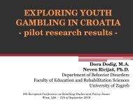 EXPLORING YOUTH GAMBLING IN CROATIA - European ...