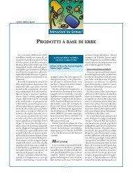 PRODOTTI A BASE DI ERBE - Associazione Italiana GIST