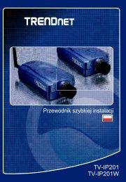 Instrukcja obsługi TRENDnet TV-IP201 - Kamery IP