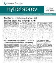 Förslag till regelförenkling gör det enklare att samla ... - Avfall Sverige