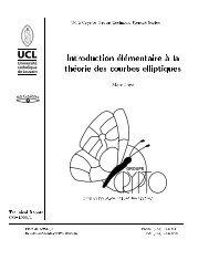 Introduction elementaire a la theorie des courbes elliptiques