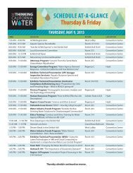 Thursday & Friday Agenda At-A-Glance - ACWA