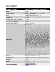 Agosto – Diciembre 2012 Cátedras del Sistema Nombre del curso o ...