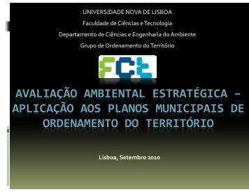 Avaliação Ambiental Estratégica – Aplicação aos Planos Municipais ...