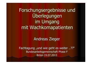 Folien zum Vortrag - Prof. Dr. med. Andreas Zieger