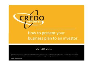 How to present your business plan to an investor…