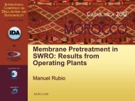 Membrane Pretreatment in SWRO: Results from Operating ... - emwis