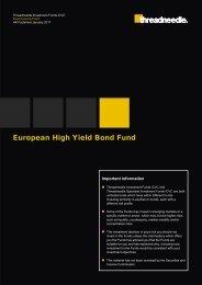 European High Yield Bond Fund - Threadneedle - Investments