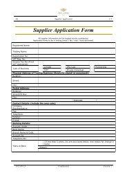 Supplier Application Form - Val de Vie