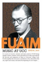 In a season of concerts, seminars and music projects ... - Music at UCC