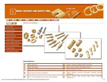 Brass Fasteners Inserts
