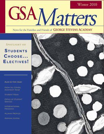 Winter Matters - George Stevens Academy