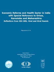 Economic Reforms and Health Sector in India - Indian Institute of ...
