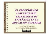 el profesorado universitario. estrategias de enseñanza en la ...