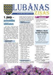 2013. gada 10. numurs - Lubānas novads