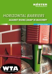 III Horizontal Barriers against rising damp in mansonry - Koster