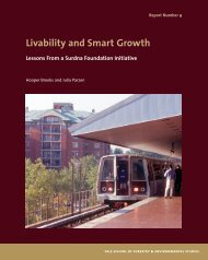 Livability and Smart Growth - Yale University