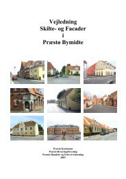 Skilte og facader i Præstø Bymidte - Vordingborg Kommune