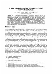 A pattern based approach to defining the dynamic infrastructure of ...