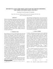 Differential Space-Time Modulation with Transmit-Beamforming for ...
