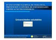 Universidades saludables - Ministerio de Salud