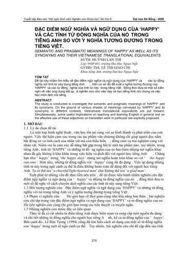 đặc điểm ngữ nghĩa và ngữ dụng của - sdh.udn.vn - Đại học Đà Nẵng