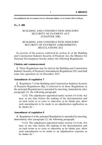 Building And Construction Industry Payments Act  Wa