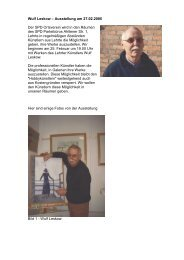 Wulf Leskow – Ausstellung am 27.02.2005 Der SPD Ortsverein wird ...