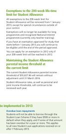 Changes to Student Allowances and Loans - StudyLink - Page 3