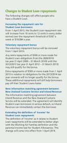 Changes to Student Allowances and Loans - StudyLink - Page 5