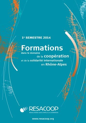 Télécharger le livret des formations RESACOOP du 2e semestre 2013