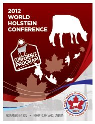 2012 WORLD HOLSTEIN CONFERENCE - Dansk Holstein