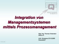 Integration von Managementsystemen mittels Prozessmanagement