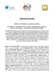 comunicato stampa prima conferenza nazionale bpco 50 morti al ...