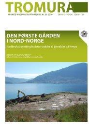 den første gården i nord-norge - Munin - Universitetet i Tromsø