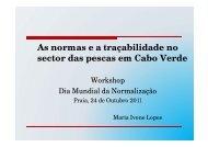 As normas e a traçabilidade no sector das pescas em Cabo Verde