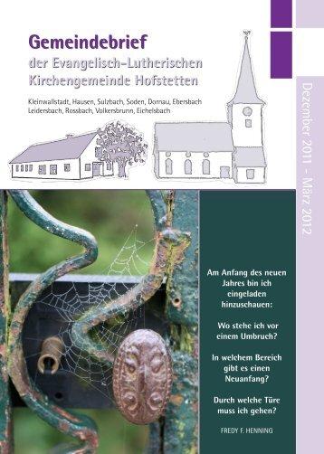Dez - März 2012 - hofstetten-evangelisch.com