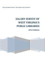 2012 Salary Survey of West Virginia Public Libraries