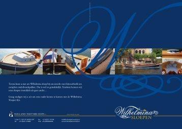 Brochure Wilhelmina sloepen - Holland Partner Ships