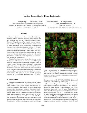 Action Recognition by Dense Trajectories - IEEE Xplore