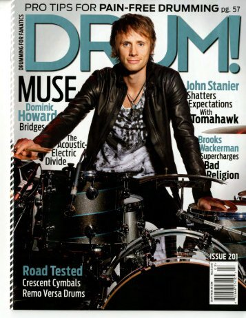 Drum! Magazine Cover Feature - Muse March 2013 Issue