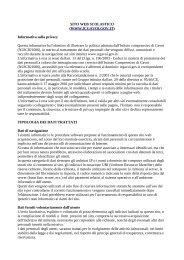 Informativa sulla privacy - Istituto Comprensivo di Gavoi