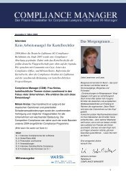 (PDF) | Ausgabe März 2008 - Compliance