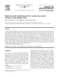 Rapid and specific identification of four Agrobacterium ... - Cost 873