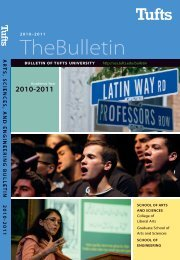 Arts, Sciences, and Engineering 2010-2011 Bulletin - USS at Tufts